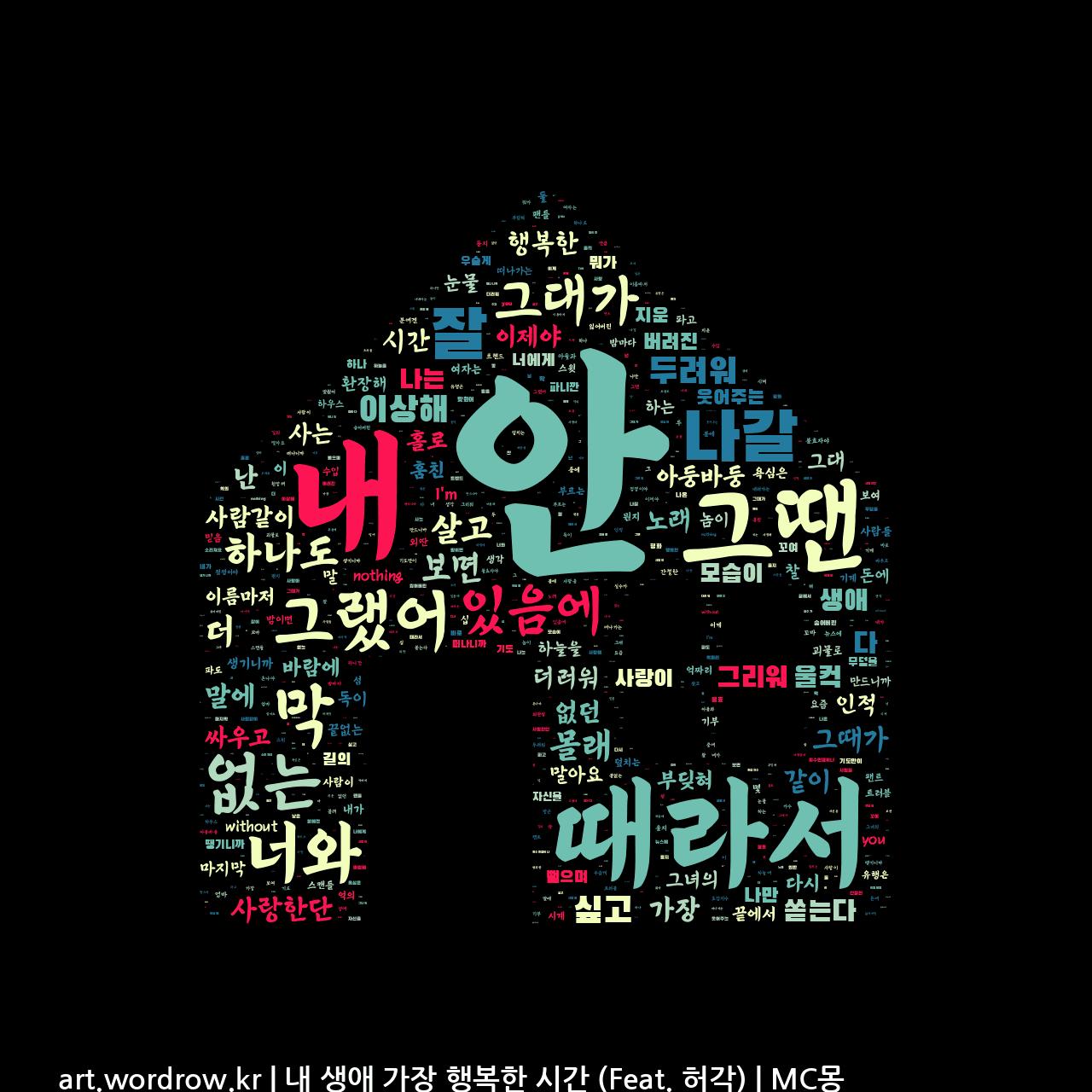 워드 아트: 내 생애 가장 행복한 시간 (Feat. 허각) [MC몽]-77